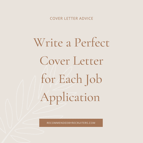 Write a Perfect Cover Letter for Each Job Application
