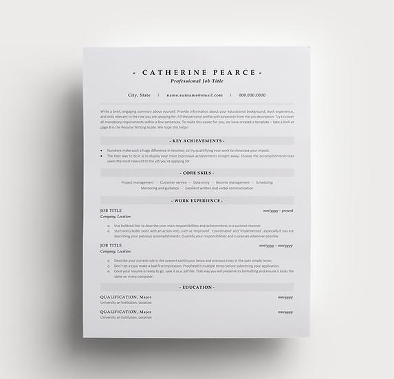 Resume Catherine