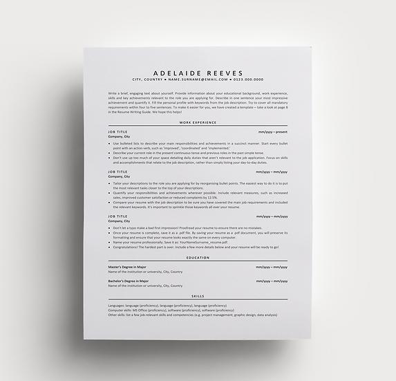 Resume Adelaide