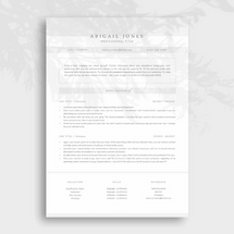 Modern and Professional Resume Design for Creative Industries
