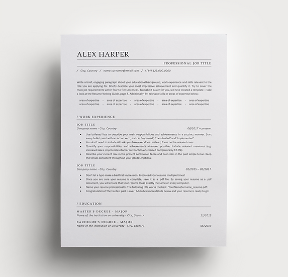 Resume Alex
