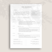 Modern and Sophisticated Resume Template for Creative Jobs