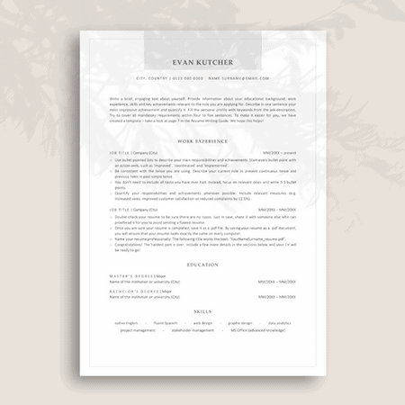 Modern ATS-optimized Resume Template for Corporate Jobs