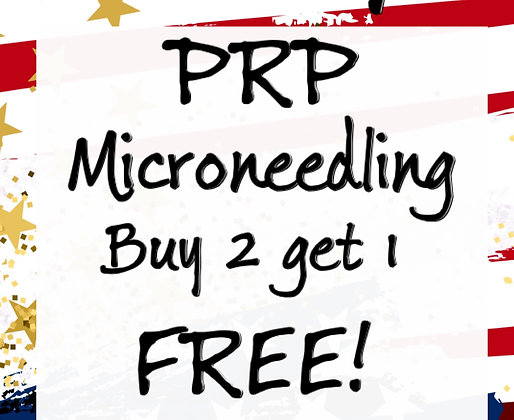 PRP Microneedling Buy 2 get1 Free!