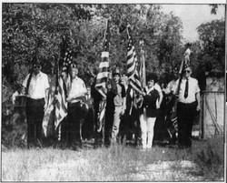 Article: Veterans Day observance held at Aripeka Cemetery. (1985)