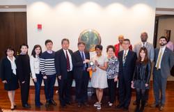 Mayor Bottoms welcomes Mayor Ko and Taipei delegation