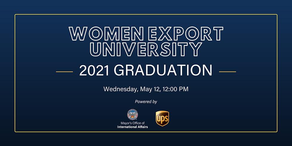 2021 Women Export University Graduation