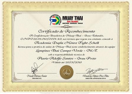 Certificado equipe CBMTBT