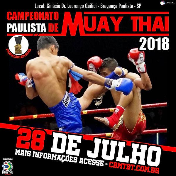 Banner do Campeonato Paulista de Muay Thai