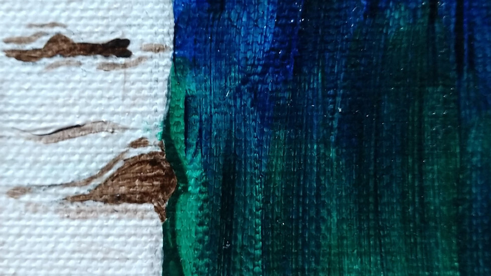"Magic Birch Mini-Canvas 3.5""x2.5"""
