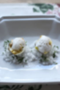 ハマグリのサフランスース、貝の泡.jpg