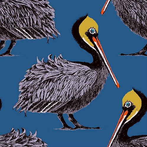Pelican Wallpaper -Harbour Blue