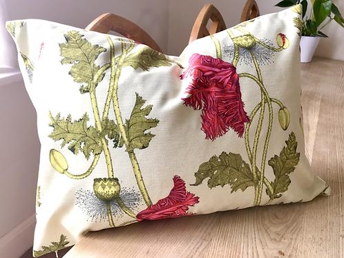 Poppy cushion - willow