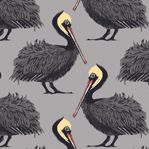 Pelican Wallpaper - Grey