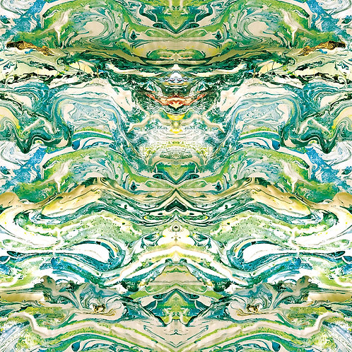 Marbled fabric-Jade
