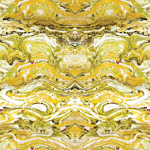 Marbled fabric-Citrine