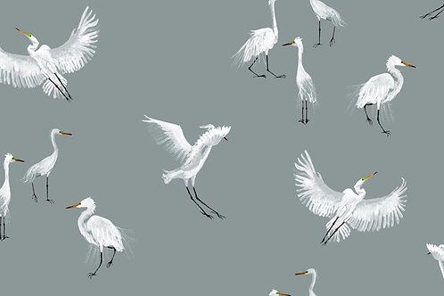 Egret fabric-Rain