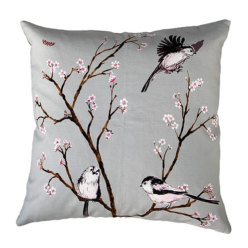 Blossom cushion -Grey