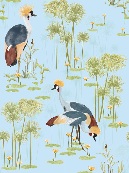 Cranes Wallpaper -Lake