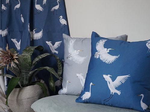 Egrets square cushion