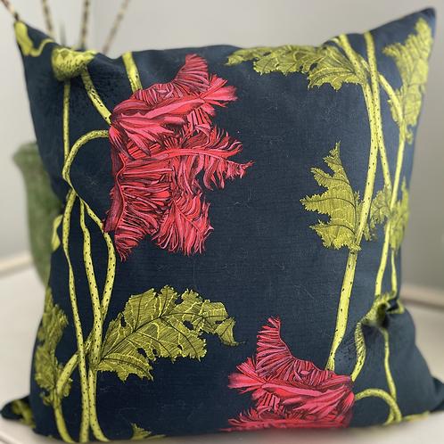 Poppy cushion - cherry