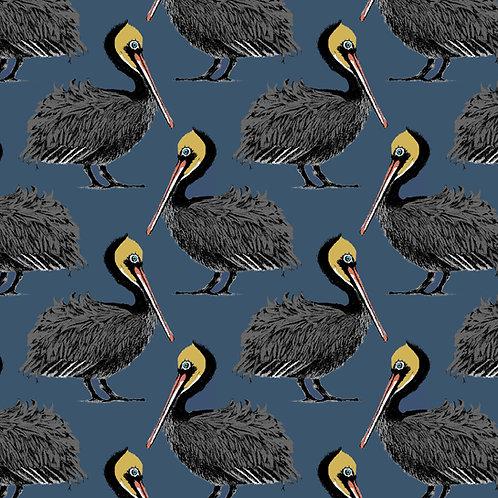 Pelican Fabric sample -Harbour blue