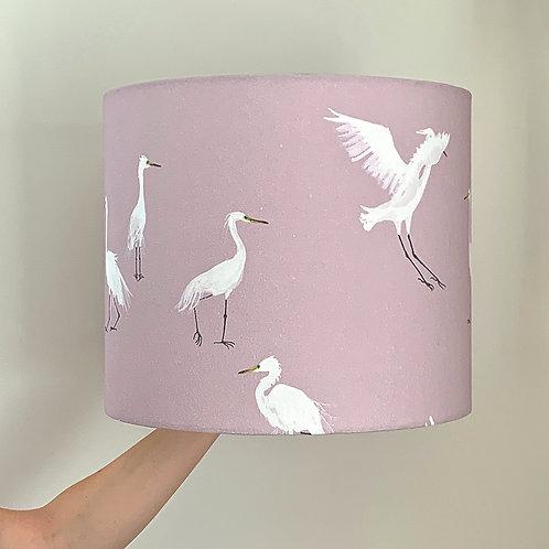 Pink Egret lampshade