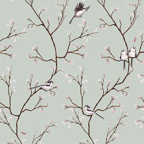 Blossom Wallpaper - Eau de nil