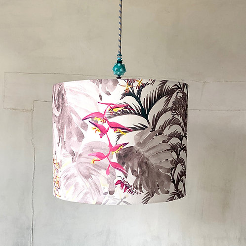 Pendant lamp shade - white lined