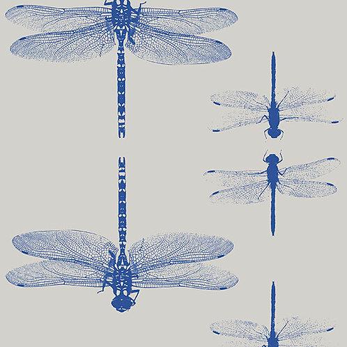 Simply dragonflies - wallpaper grey