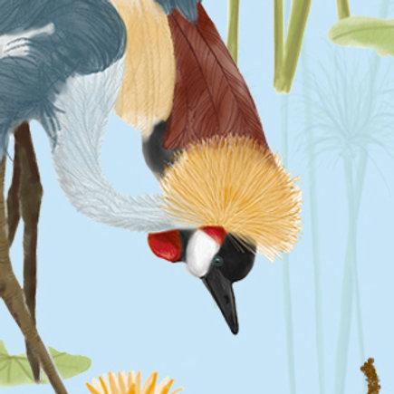 Cranes Wallpaper -Lake sample