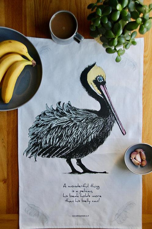 Tea towel - Pelican