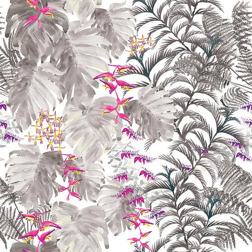 Tropical fabric- Smoke