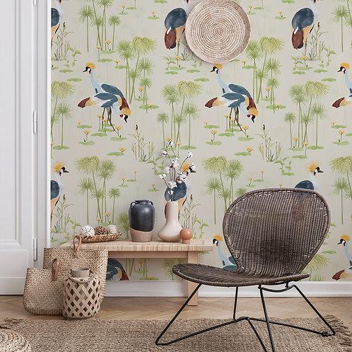 Cranes Wallpaper -Sand