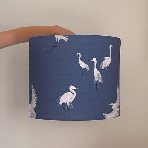 Blue Egret Pendant lampshade