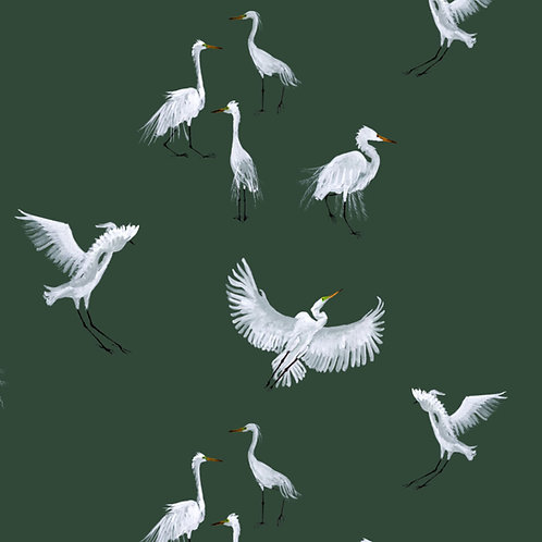 Egret Fabric sample -Forest
