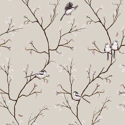Blossom Wallpaper beige