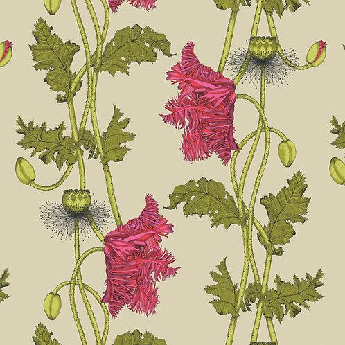 Samples Poppy wallpaper-Strawberry