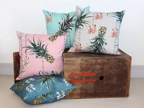 Pineapples and Petals - Cushion