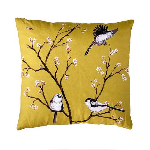 Blossom cushion -Ochre