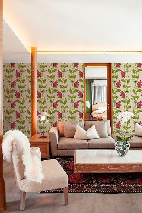 Poppy wallpaper-Strawberry