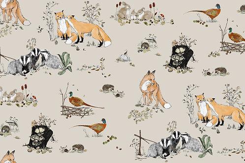 Woodlands wallpaper - beige