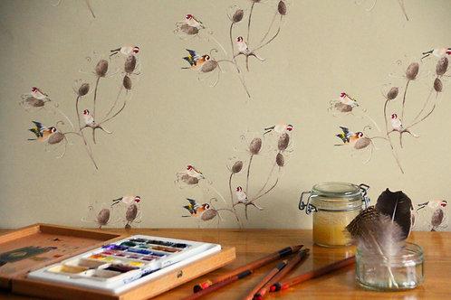 Goldfinch Wallpaper - Sample
