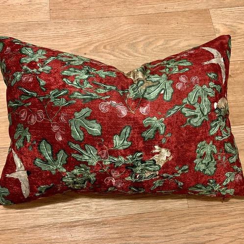 Red Fig velvet lumber cushion