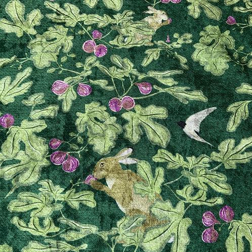 Fig velvet fabric sample-Green