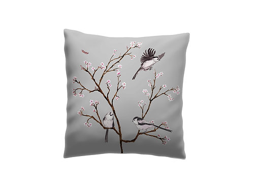Blossom cushion grey