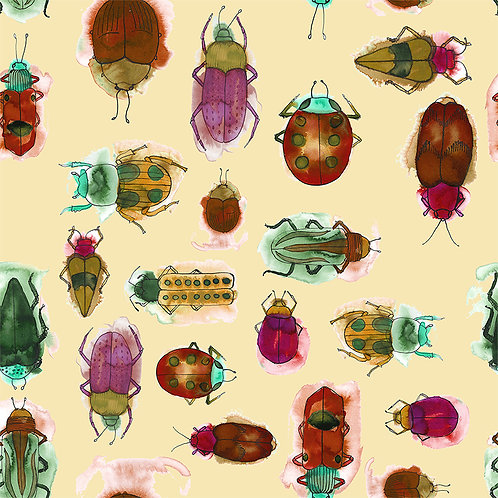 Jewel Bugs-Ruby fabric