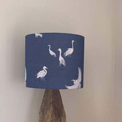 Blue Egret  lampshade