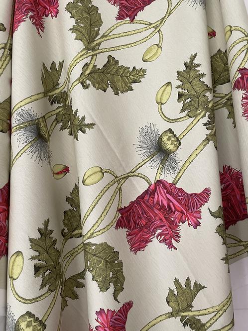 Poppy Fabric sample-Birch