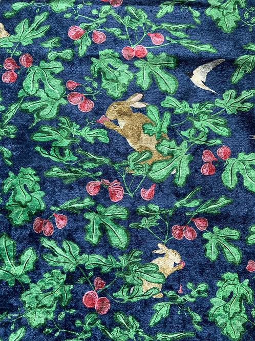 Fig velvet fabric
